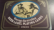VINTAGE AUSTRALIAN BEER LABEL PLAYING CARDS 1950 PERIOD Free post