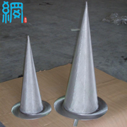 Inline filter conical strainer