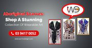 Buy Luxurious and Soft Australian Aboriginal Silk Scarf
