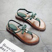 Round toe open-toe sandals