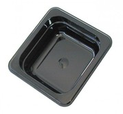 Robinox Black Polycarbonate Gastronorm Pan - 1/6 Size,  65mm Deep B1606