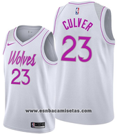 Minnesota Timberwolves Jarrett Culver NO 23 Earned 2019-20 White Jers