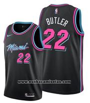 Miami Heat Shirt Jimmy Butler NO 22 City 2019 Black
