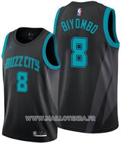 Charlotte Hornets Bismack Biyombo No 8 Ville Edition Black Jersey