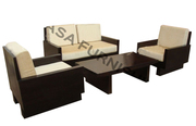 Simple Sofa Set Wooden with Center Table | 6 Seater | Casa furnishing